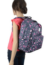 Backpack 2 Compartments Rip curl Blue floral LBPRN4F2-vue-porte