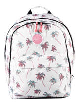 Backpack 2 Compartments Rip curl White palmier LBPRN4P1