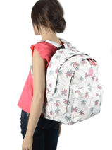 Backpack 2 Compartments Rip curl White palmier LBPRN4P1-vue-porte