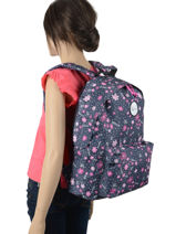 Backpack With Matching Pencil Case Rip curl Blue floral LBPRO4F2-vue-porte
