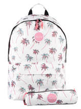 Backpack With Matching Pencil Case Rip curl White palmier LBPRO4P1