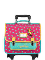 Wheeled Backpack Rétro Cameleon Pink retro CR35