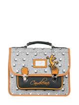 Satchel For Kids 1 Compartment Cameleon Gray retro RET-CA32