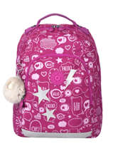 Backpack Class Room S 2 Compartments Kipling Pink back to school 16524