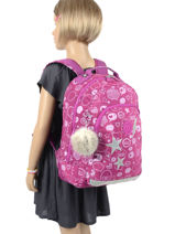 Backpack Class Room S 2 Compartments Kipling Pink back to school 16524-vue-porte