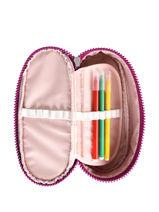 Kit 1 Compartment Kipling Pink back to school 12908-vue-porte