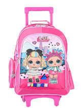 Wheeled Backpack 2 Compartments Lol Pink surprise 9786LOL