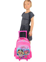 Wheeled Backpack 2 Compartments Lol Pink surprise 9786LOL-vue-porte
