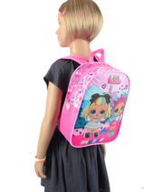 Backpack 1 Compartment Lol Pink surprise 99747LOL-vue-porte