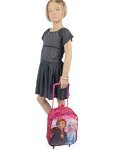 Wheeled Backpack Frozen Violet anna et elsa 100440F2-vue-porte
