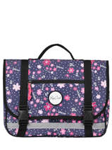 Cartable 1 Compartiment Rip curl Bleu floral LBPRU4F2