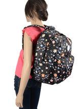 Backpack 2 Compartments Rip curl Black floral LBPRN4F2-vue-porte