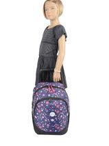Wheeled Backpack 2 Compartments Rip curl Blue floral LBPRK4F2-vue-porte