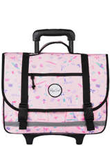 Wheeled Schoolbag 2 Compartments Rip curl Pink beach LBPRJ4BE