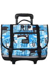 Wheeled Schoolbag 2 Compartments Rip curl Blue surf BBPBJ5SU