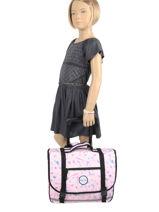 Wheeled Schoolbag 2 Compartments Rip curl Pink beach LBPRJ4BE-vue-porte