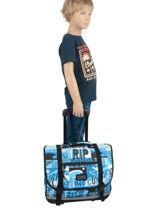 Wheeled Schoolbag 2 Compartments Rip curl Blue surf BBPBJ5SU-vue-porte