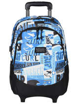 Wheeled Backpack 2 Compartments Rip curl Blue surf BBPBI5SU