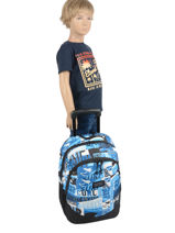Wheeled Backpack 2 Compartments Rip curl Blue surf BBPBI5SU-vue-porte