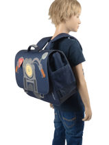 Cartable Midi 2 Compartiments Jeune premier daydream boys B-vue-porte