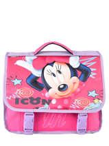 Schoolbag 1 Compartment Minnie White dot MINEI06