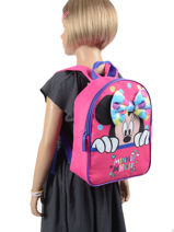 Backpack 1 Compartment Minnie Pink dot MINNIO3-vue-porte