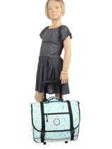 Wheeled Schoolbag 2 Compartments Rip curl Blue floral LBPRJ4F2-vue-porte