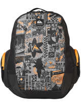 Backpack Schoolie 2 Compartments Quiksilver Gray youth access kids QBBP3041