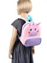 Mini Backpack Unicorn Animal Pink kids KIDTW02-vue-porte