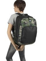 Backpack Burst 2 Compartments Quiksilver Black youth access QYBP3573-vue-porte