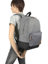 Sac à Dos New Night 1 Compartiment Quiksilver Noir youth access QYBP3635-vue-porte