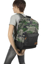 Backpack New Night 1 Compartment Quiksilver Black youth access QYBP3635-vue-porte