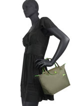 Longchamp Le pliage club Handbag Green-vue-porte