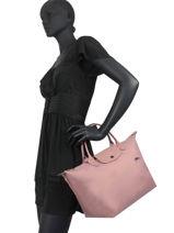 Longchamp Le pliage club Sacs porté main Rose-vue-porte