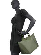 Longchamp Le pliage club Sacs porté main Vert-vue-porte