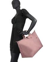 Longchamp Le pliage club Travel bag Pink-vue-porte