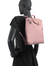 Longchamp Le pliage club Sac à dos Rose-vue-porte