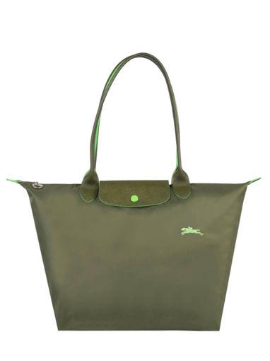 Longchamp Le pliage club Besaces Vert