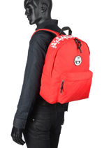 Backpack Happy Day Napapijri Red geographic NOYIOF-vue-porte