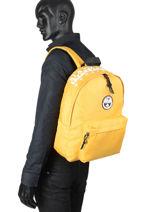 Backpack Happy Day Napapijri Yellow geographic NOYIOF-vue-porte