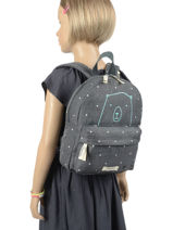 Backpack Bear 1 Compartment Kidzroom Gray starstruck 9810-vue-porte