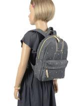 Backpack Bunny 1 Compartment Kidzroom Gray starstruck 9811-vue-porte