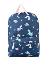 Backpack Unicorn 1 Compartment Milky kiss pretty 512