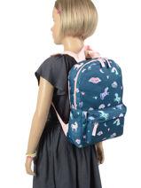 Backpack Unicorn 1 Compartment Milky kiss pretty 512-vue-porte