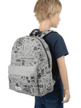 Backpack Sketch 1 Compartment Mickey and minnie mouse Gray fashion 894-vue-porte