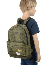 Sac A Dos 1 Compartiment Skooter Vert in your face 315-vue-porte