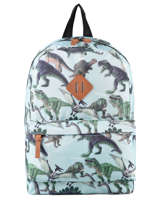 Backpack Dinosaurs 1 Compartment Skooter Blue dino 9865