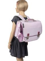 Mini Backpack 1 Compartment Caramel et cie Violet joyeuse fee MMJ-vue-porte