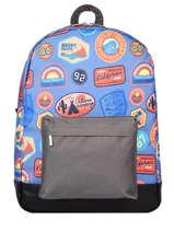 Backpack 1 Compartment Gars Caramel et cie Blue gars G