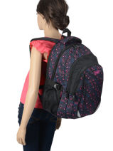 Backpack 2 Compartments Street Pink street INFINITY-vue-porte